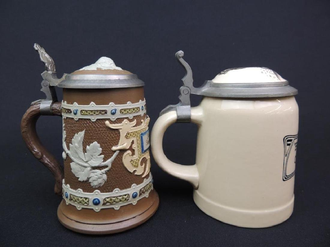 Lot of 2 Antique German Mettlach Steins - 4