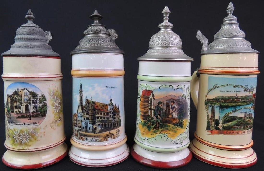 Lot of 4 Vintage German Steins