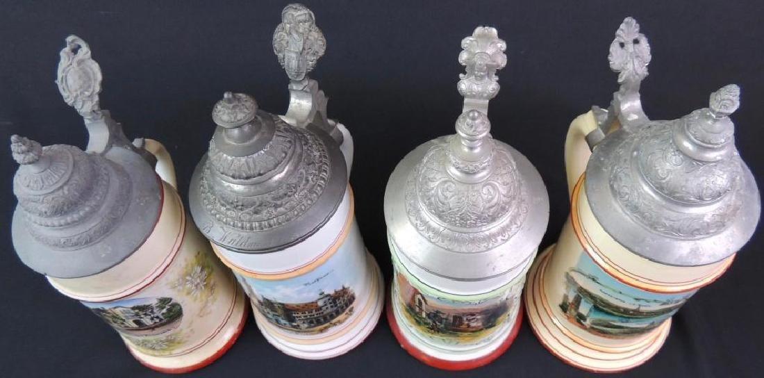 Lot of 4 Vintage German Steins - 2