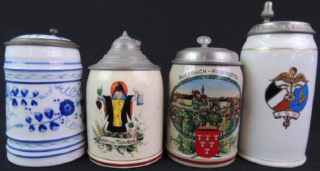 Lot of 4 Vintage German Steins