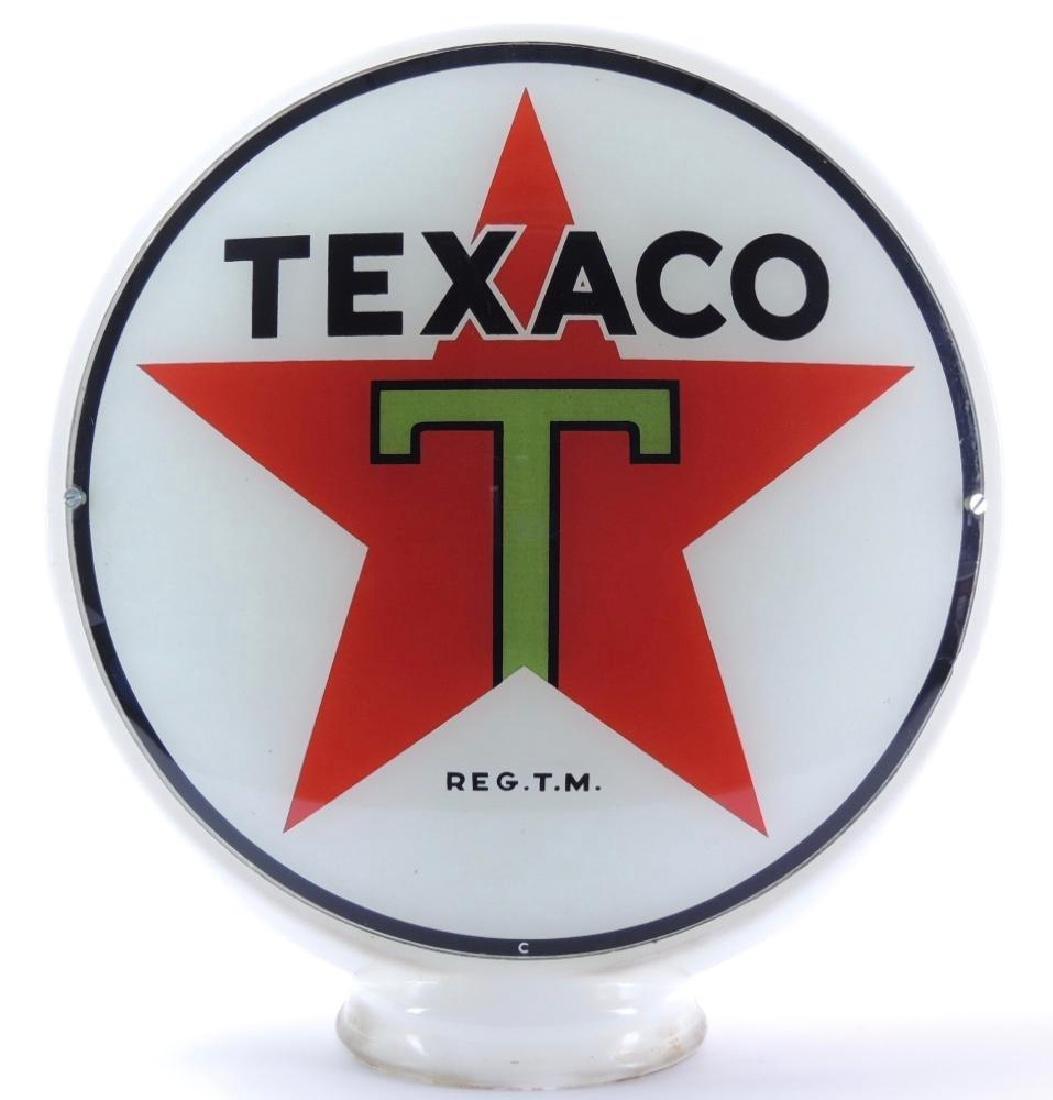 Vintage Texaco Gas Pump Glass Globe