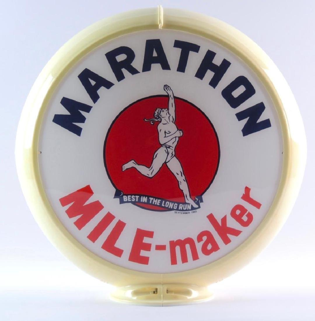 "Marathon ""Mile-maker"" Gas Pump Glass Globe"