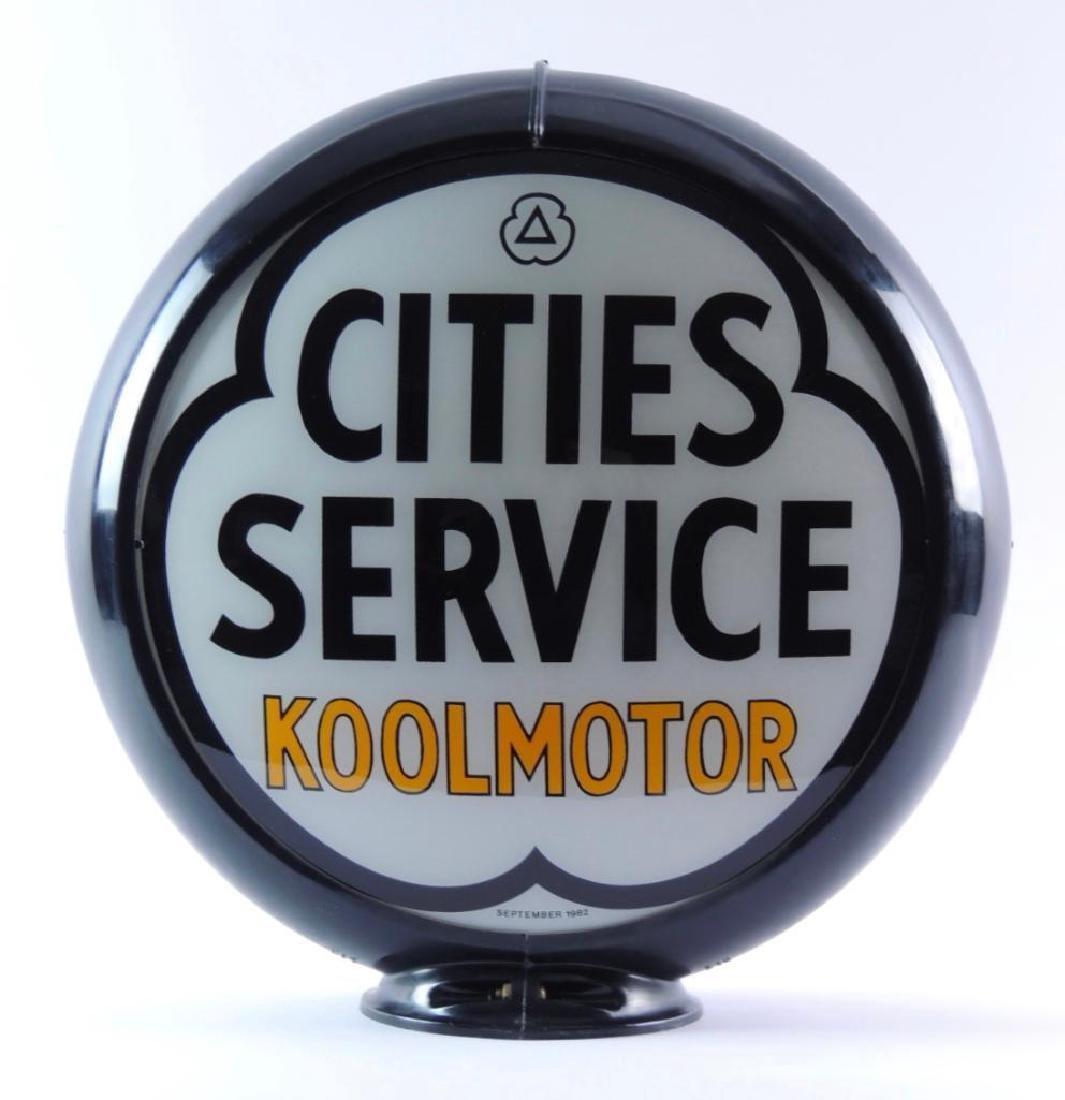 Cities Service Koolmotor Gas Pump Glass Globe