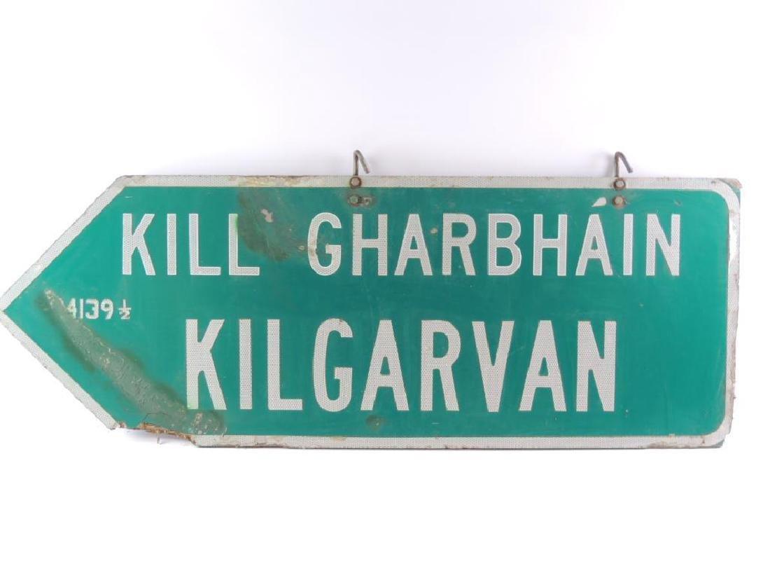 Vintage Kill Gharbhain Kilgarvan Plywood Street Sign