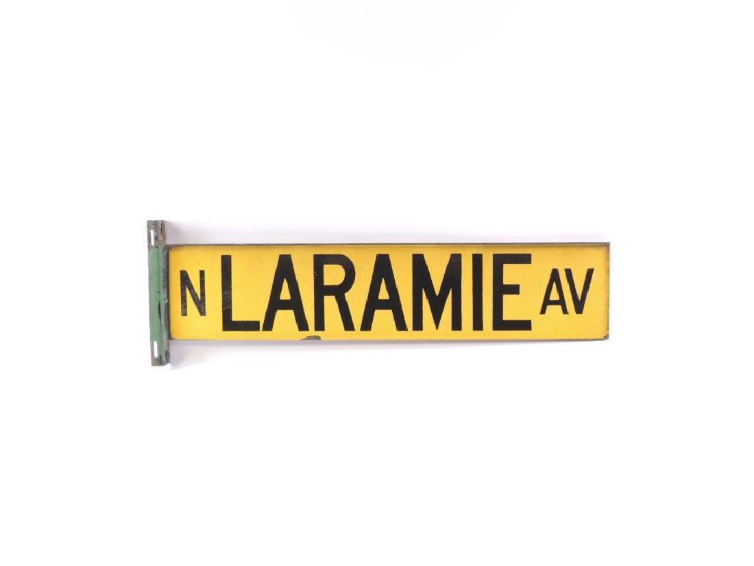 "Vintage ""N. Laramie Ave."" Metal Street Sign"
