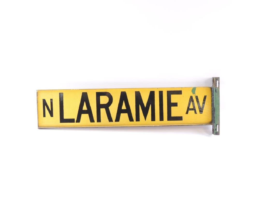 "Vintage ""N. Laramie Ave."" Metal Street Sign - 2"