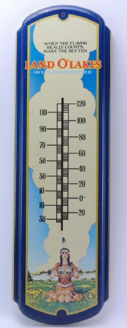 Vintage Land O'Lakes Butter Advertising Thermometer - 3