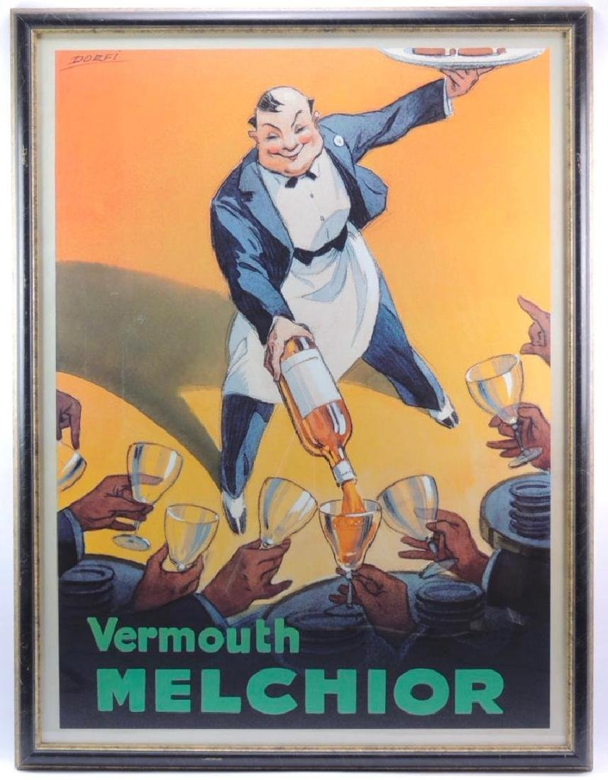 Vermouth Melchior Advertising Poster by Dorfi (Albert