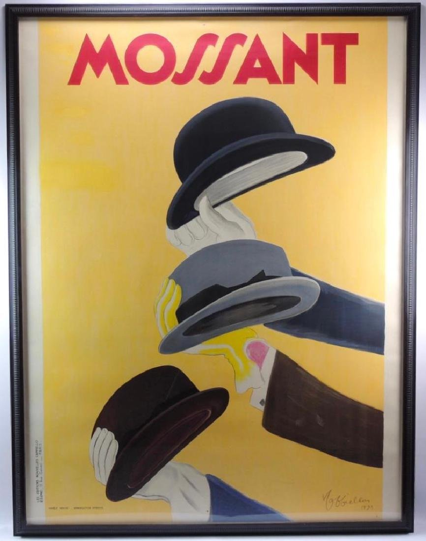 Mossant Hats (1938) by Leonetto Cappiello Framed French