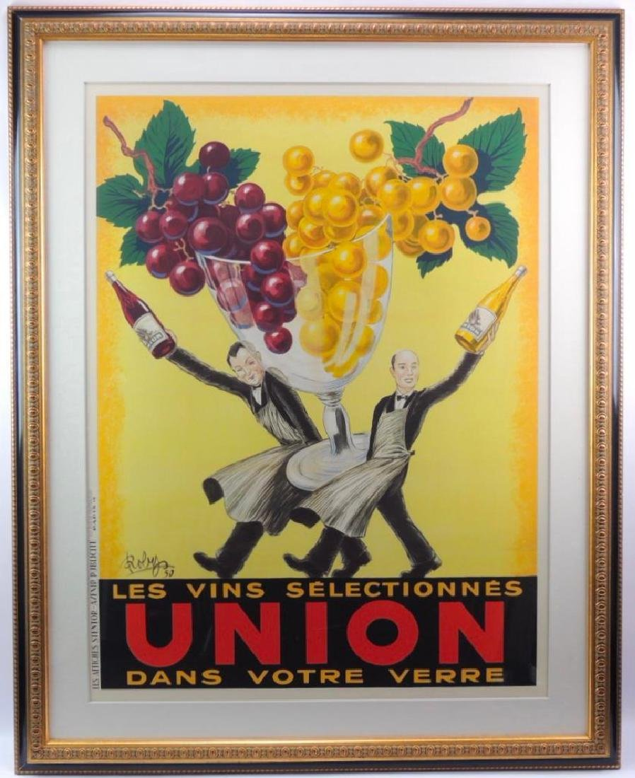 "Vintage French Advertising Poster ""Les Vins"