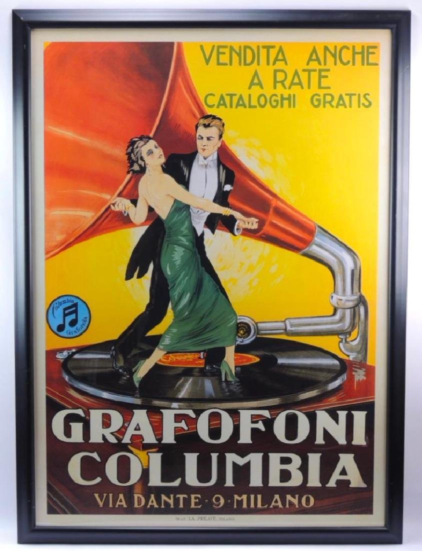 Grafofoni Columbia Italian Advertising Poster