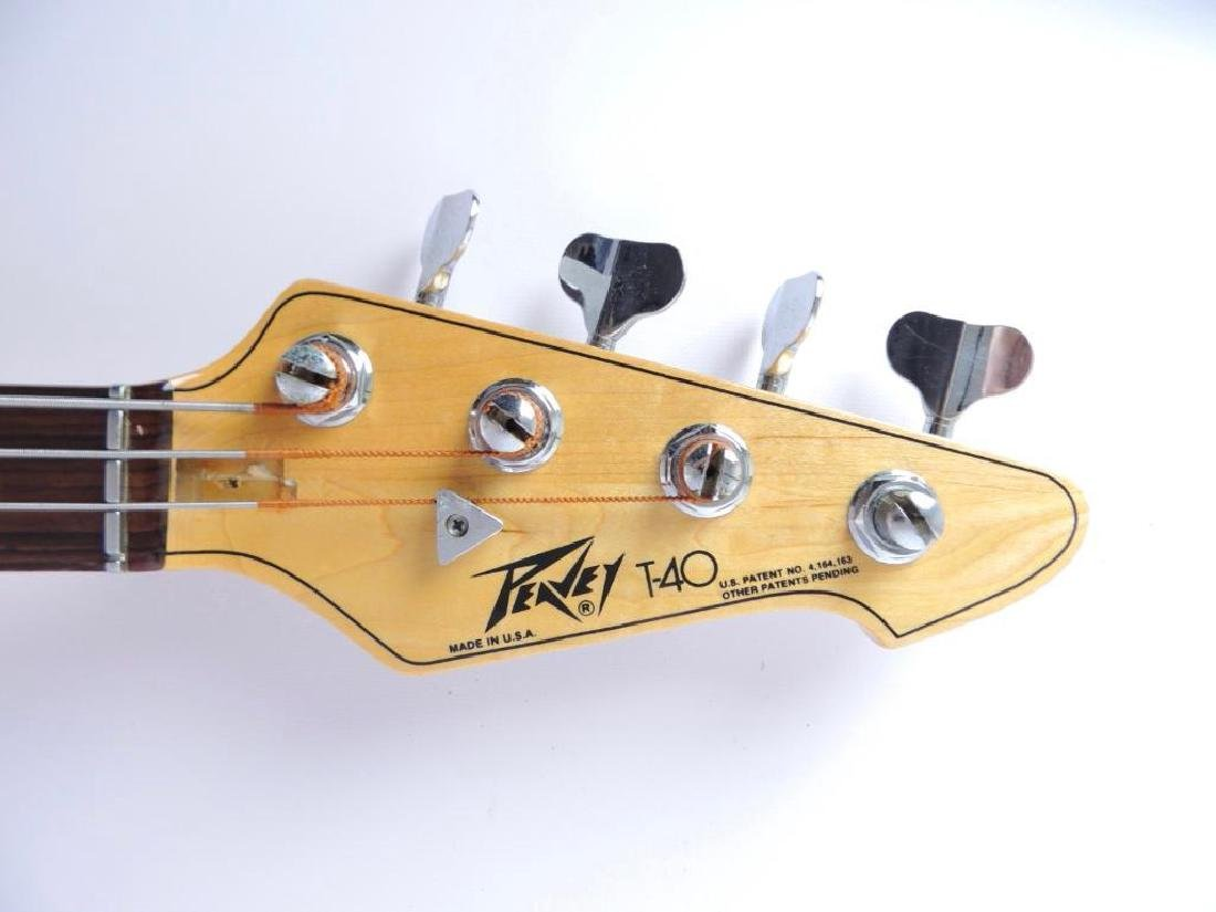Peavey Model T-40 Electric Bass Guitar with Hard Case - 6
