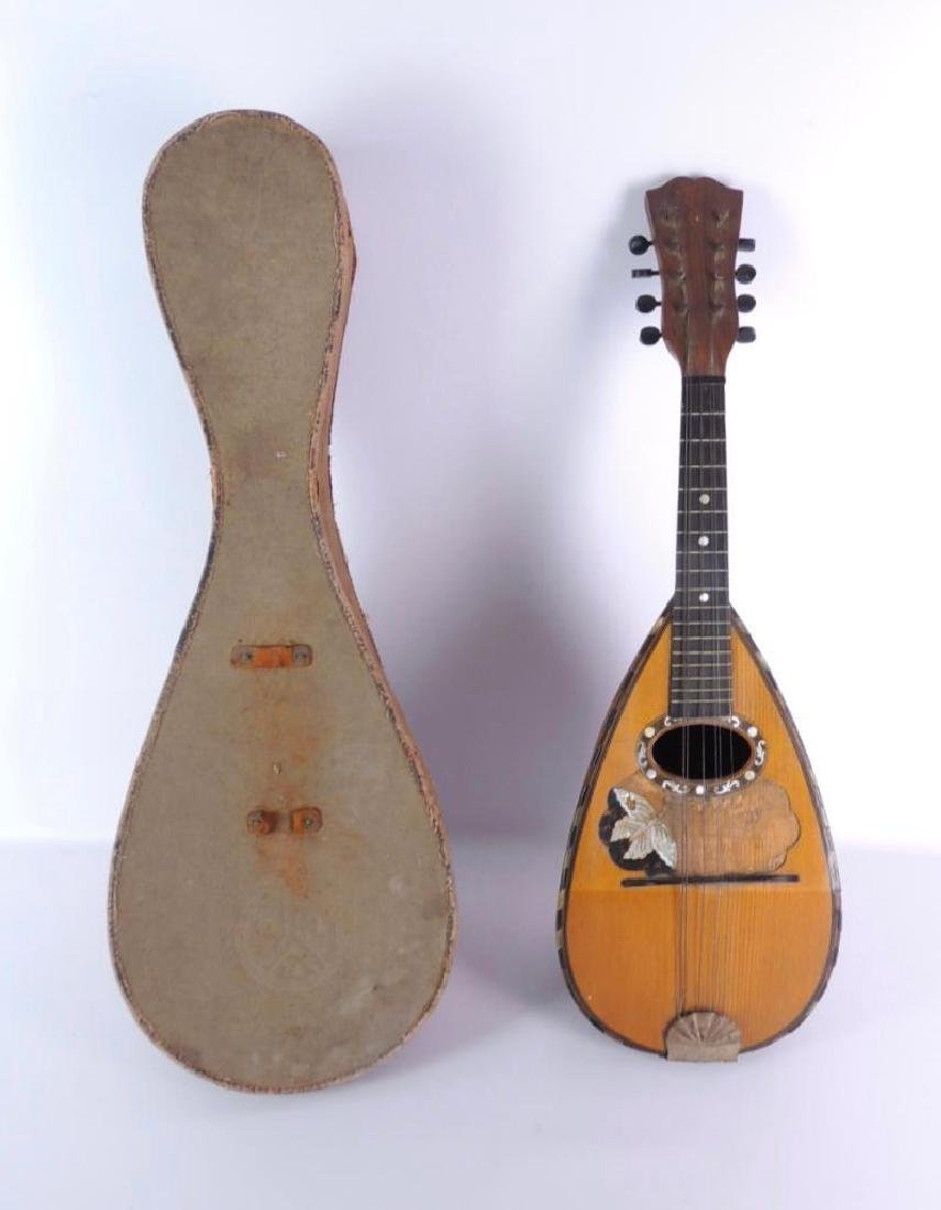 Antique Bowlback Mandolin with Case