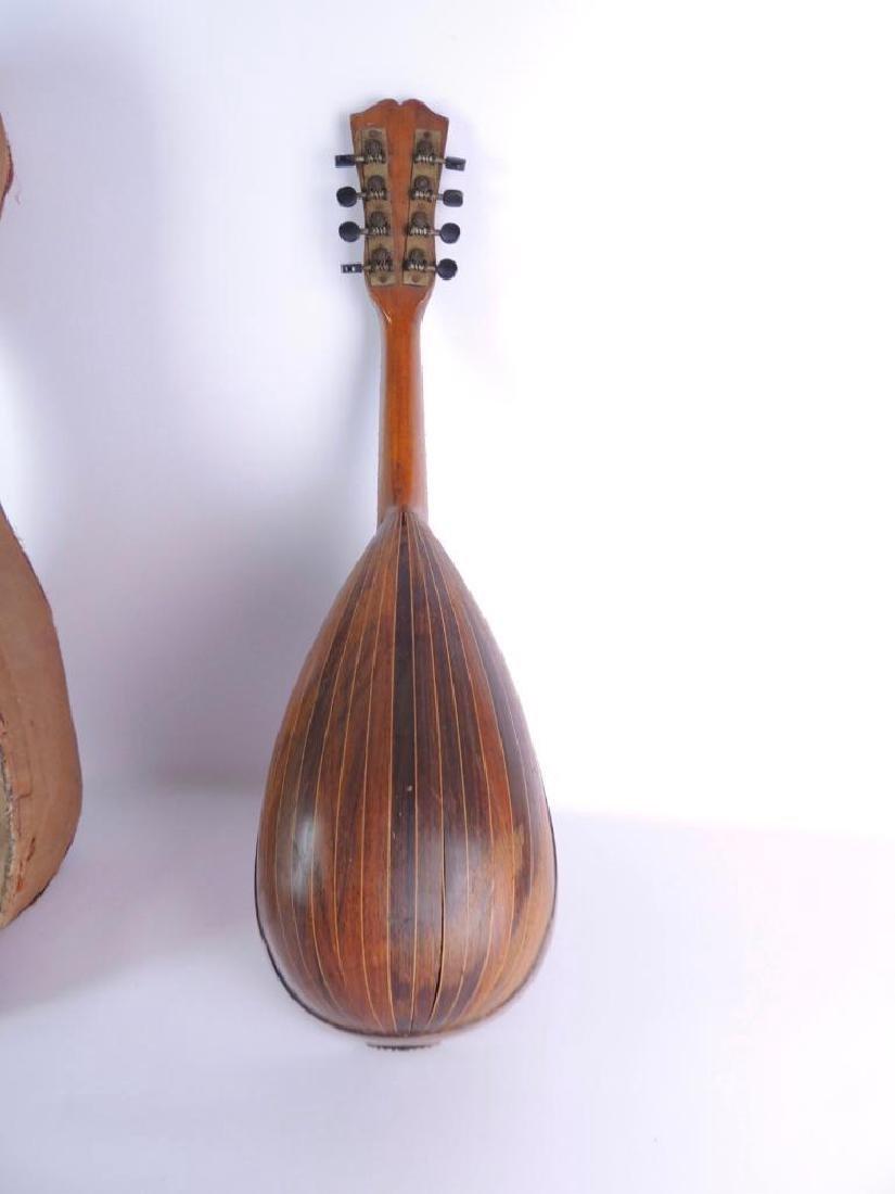 Antique Bowlback Mandolin with Case - 3