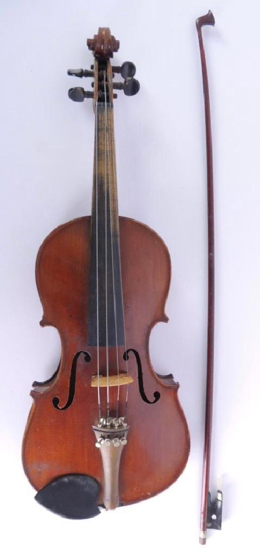 Antique Nippon Made Violin with Bow and Hard Case