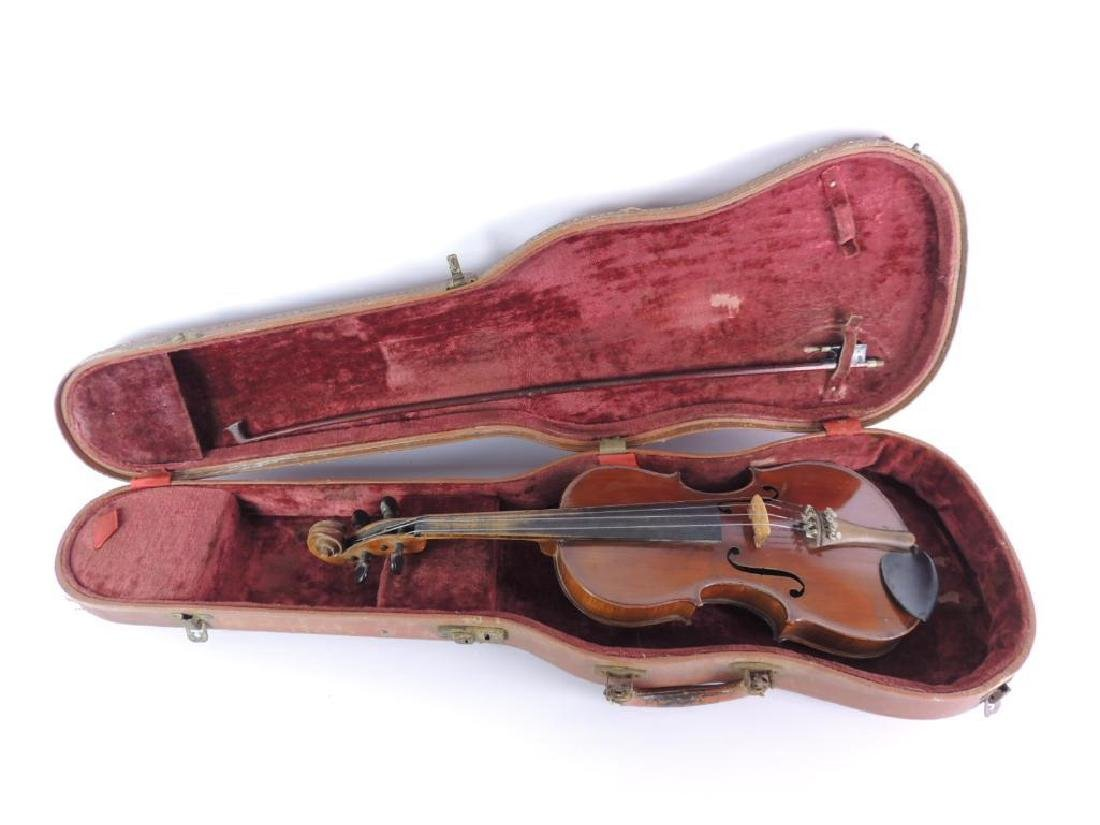 Antique Nippon Made Violin with Bow and Hard Case - 3