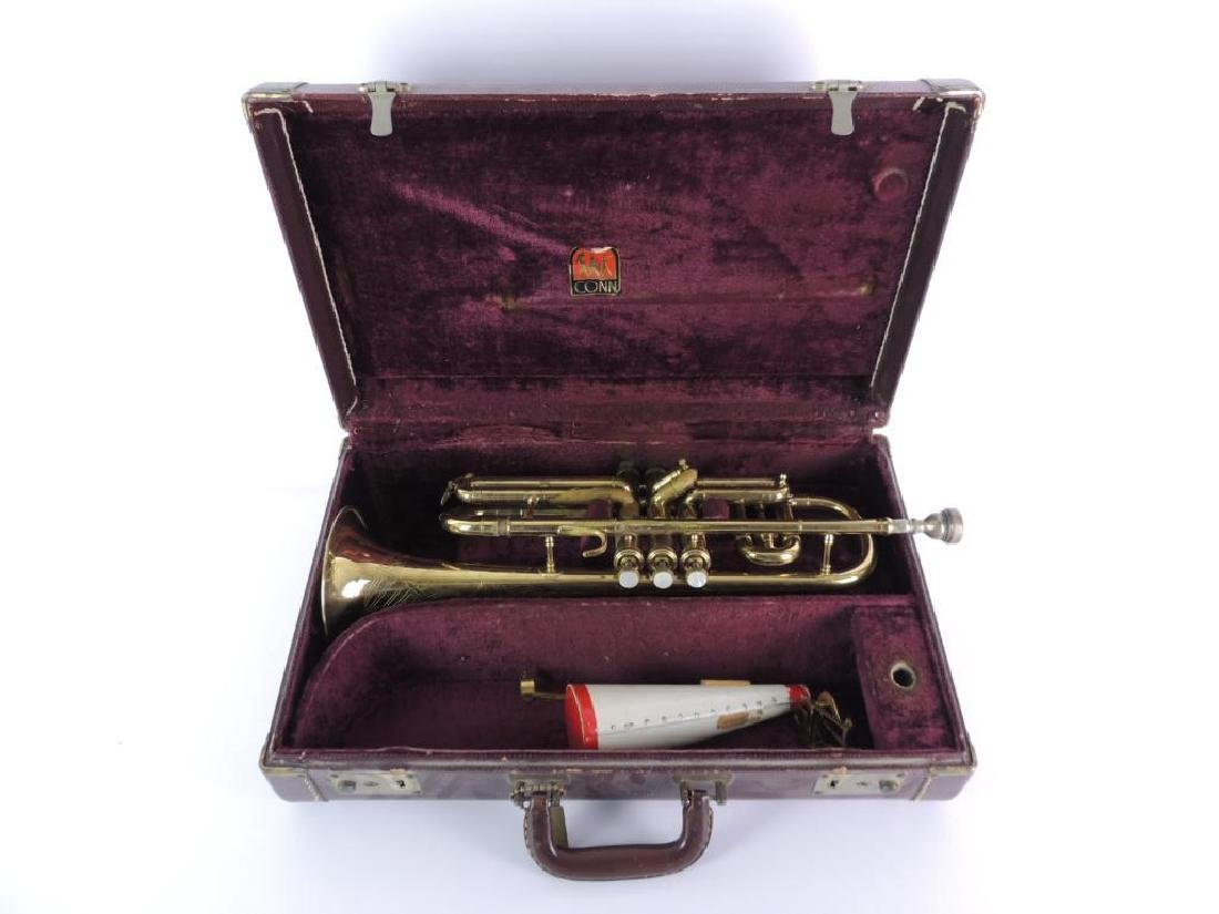 Vintage C.G. Conn Trumpet with Leather Case - 4