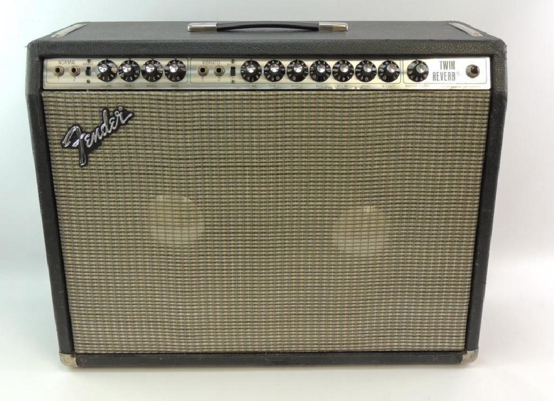 Vintage Fender Twin Reverb Amplifier with JBL Speakers