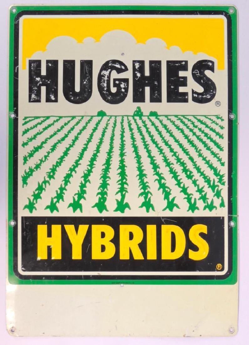 Hughes Hybrid Advertising Metal Sign