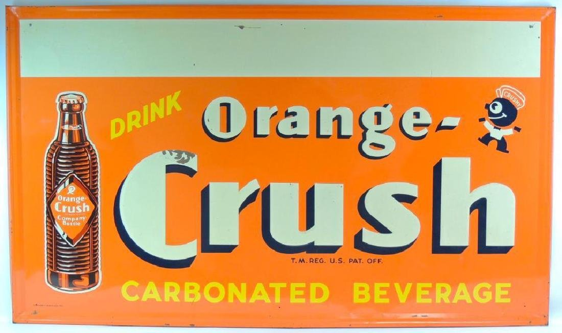 Vintage Orange Crush Advertising Metal Sign