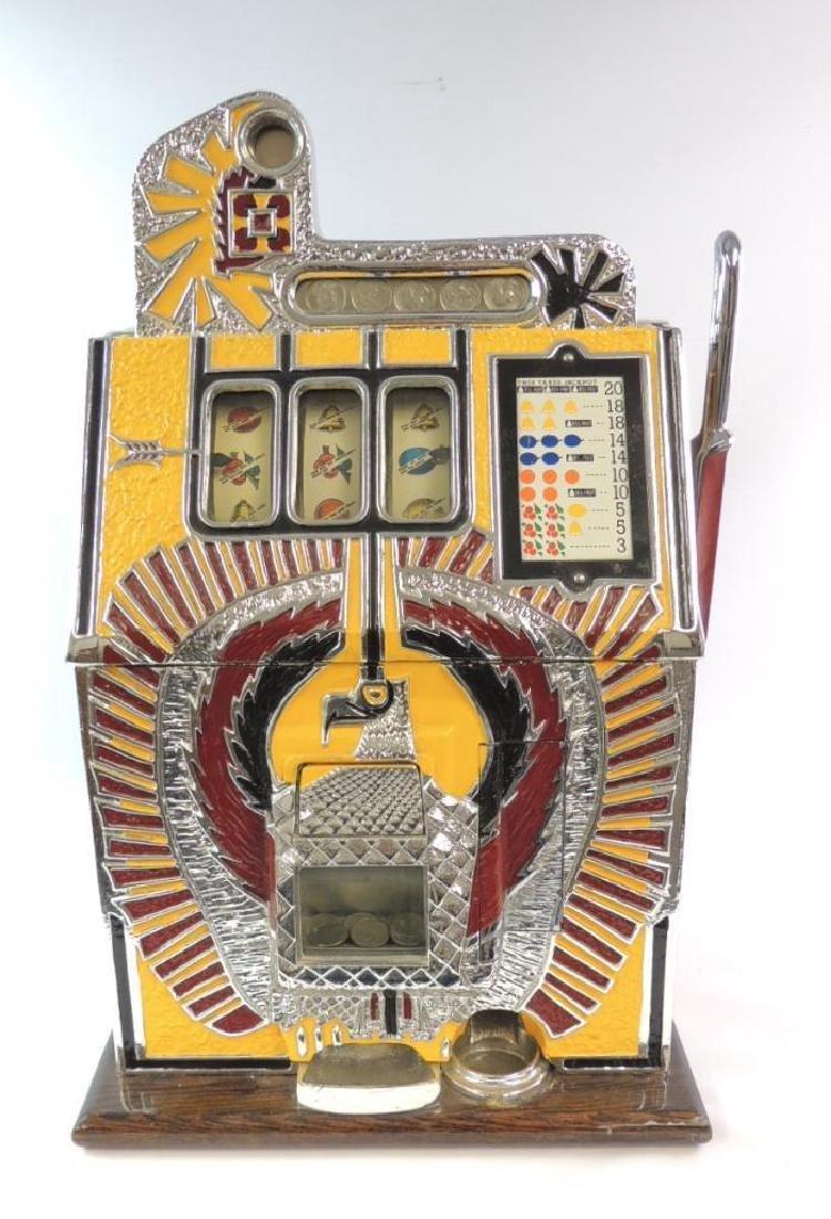 Vintage Mills Novelty Co. 25 Cent Eagle Slot Machine