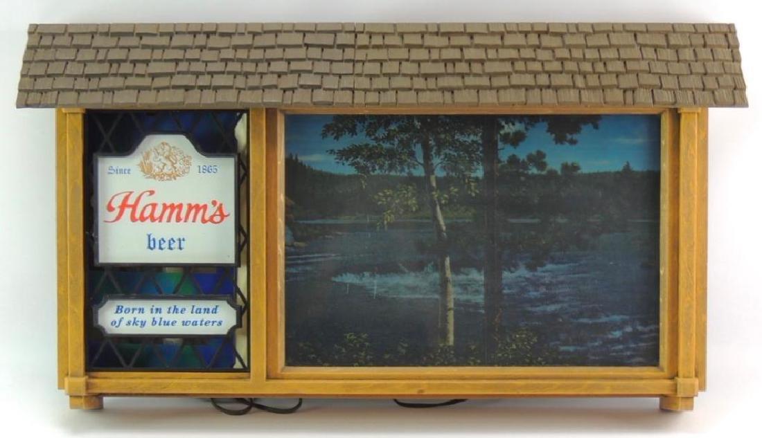 Vintage Hamm's Beer Scene-o-rama Motion Beer Sign