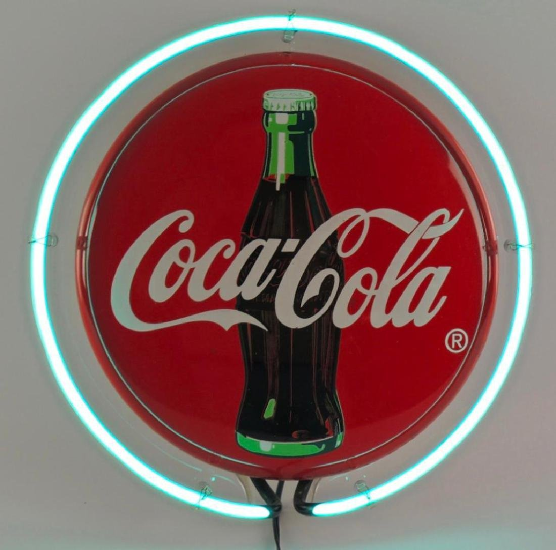 Coca Cola Advertising Neon Sign