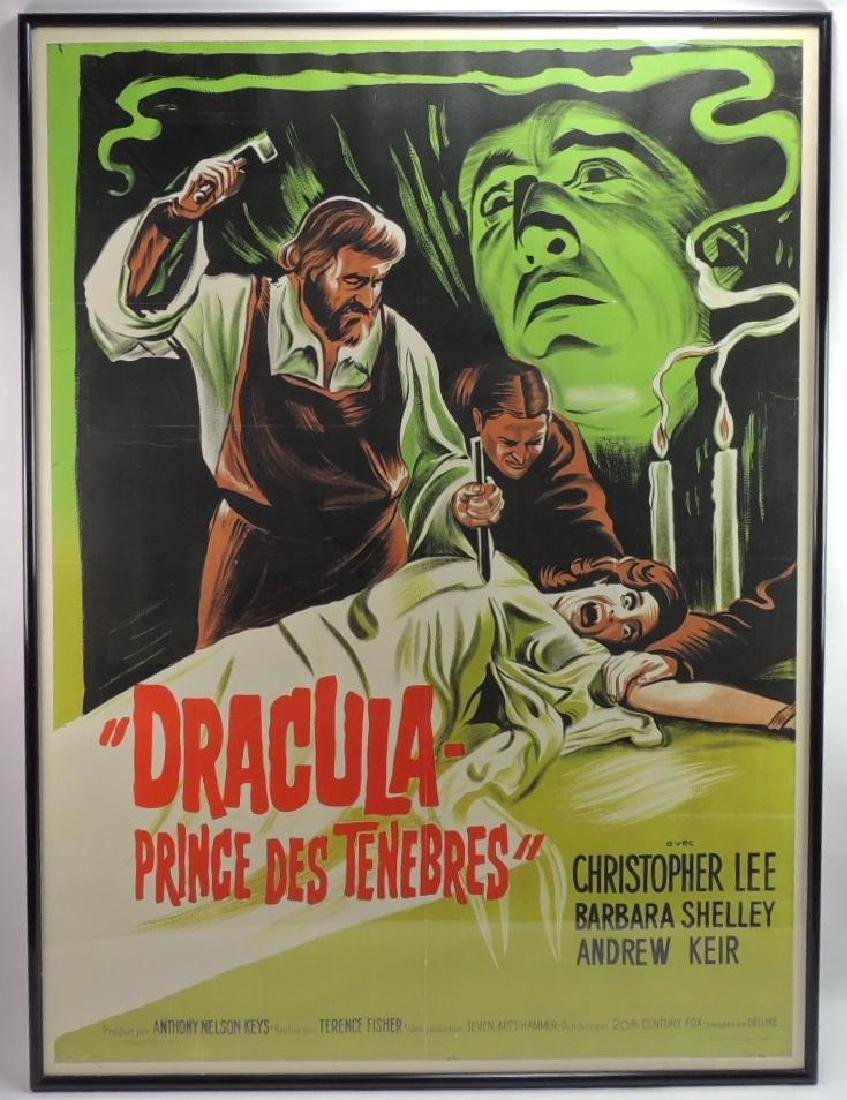 """1966 """"Dracula Prince of Darkness"""" French Movie Poster"""