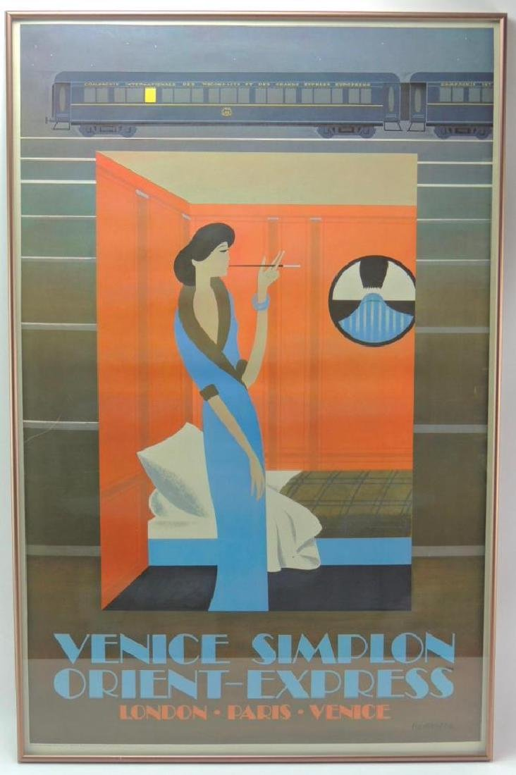 Venice Simplon Orient Express Travel Poster (1981) -