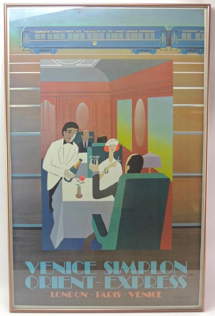 Venice Simplon Orient Express Poster (1981) - Dinner