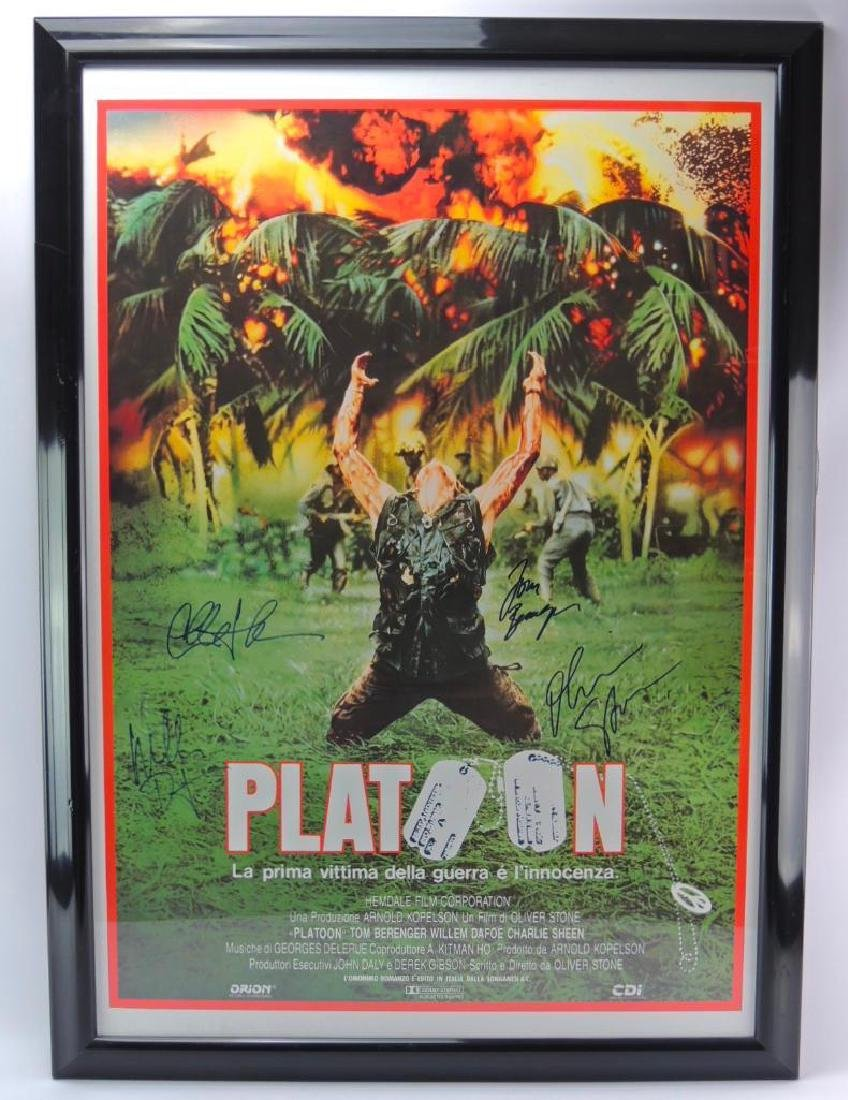 Signed Platoon Movie Poster with COA