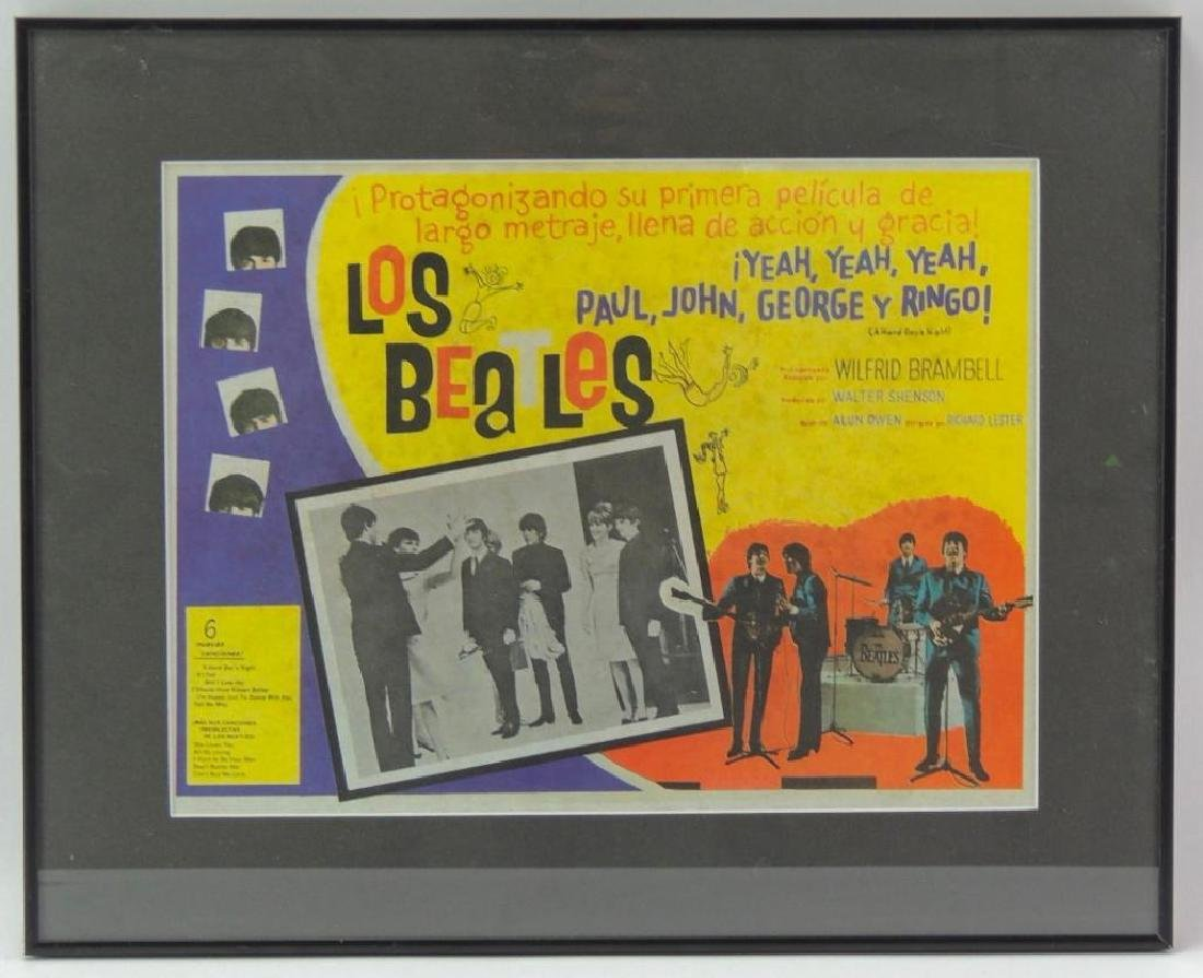 "Spanish Beatles ""A Hard Days Night"" Framed Poster"
