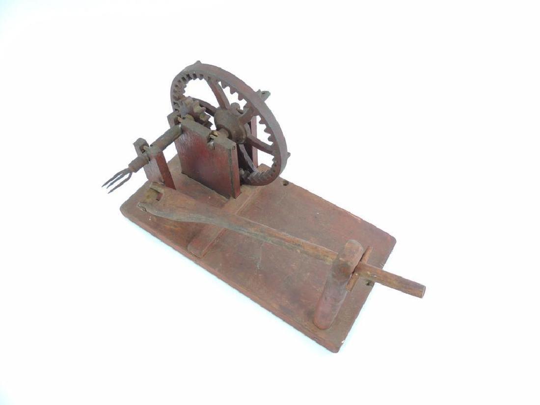 Antique Primitive Wooden Apple Parer - 2