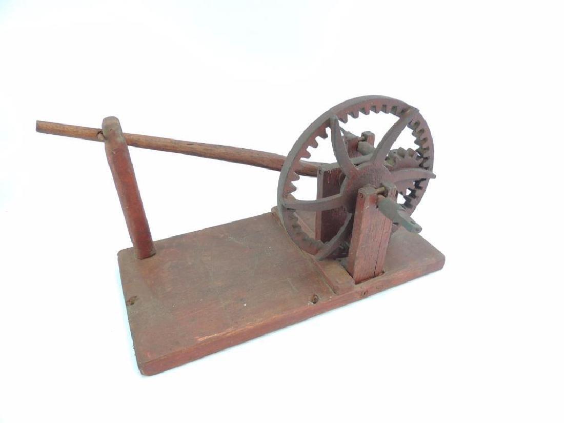 Antique Primitive Wooden Apple Parer - 3