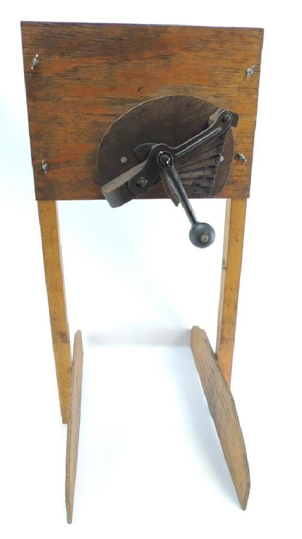 Antique Fruit and Vegetable Chopper with Primitive Wood
