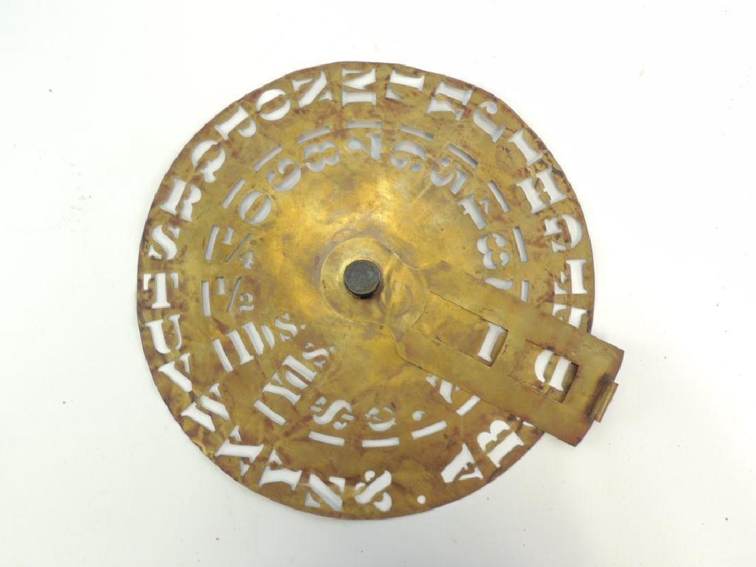 Antique Brass Signage Stencil