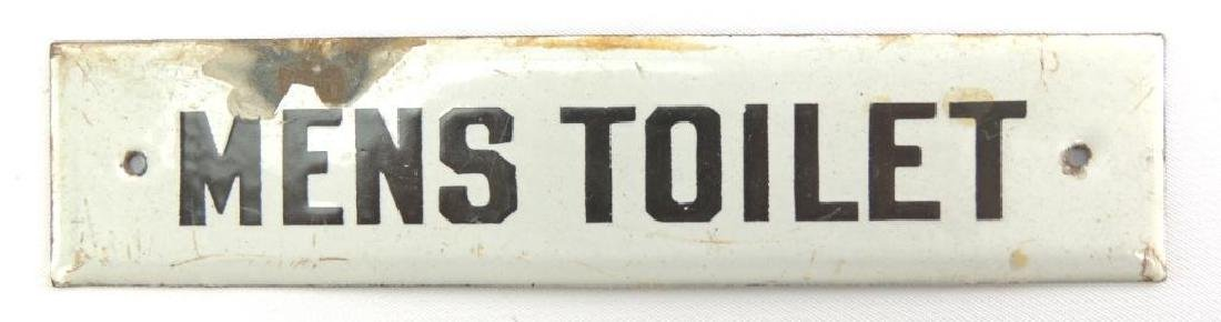 "Vintage ""Men's Toilet"" Porcelain Enamel Sign - 2"