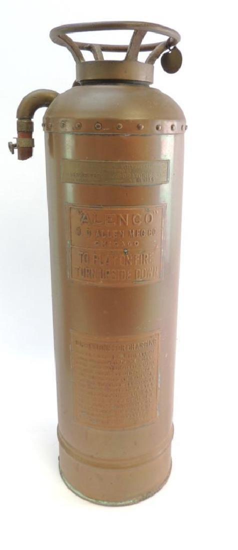 """Vintage """"Allen Co."""" Copper/Brass Fire Extinguisher"""