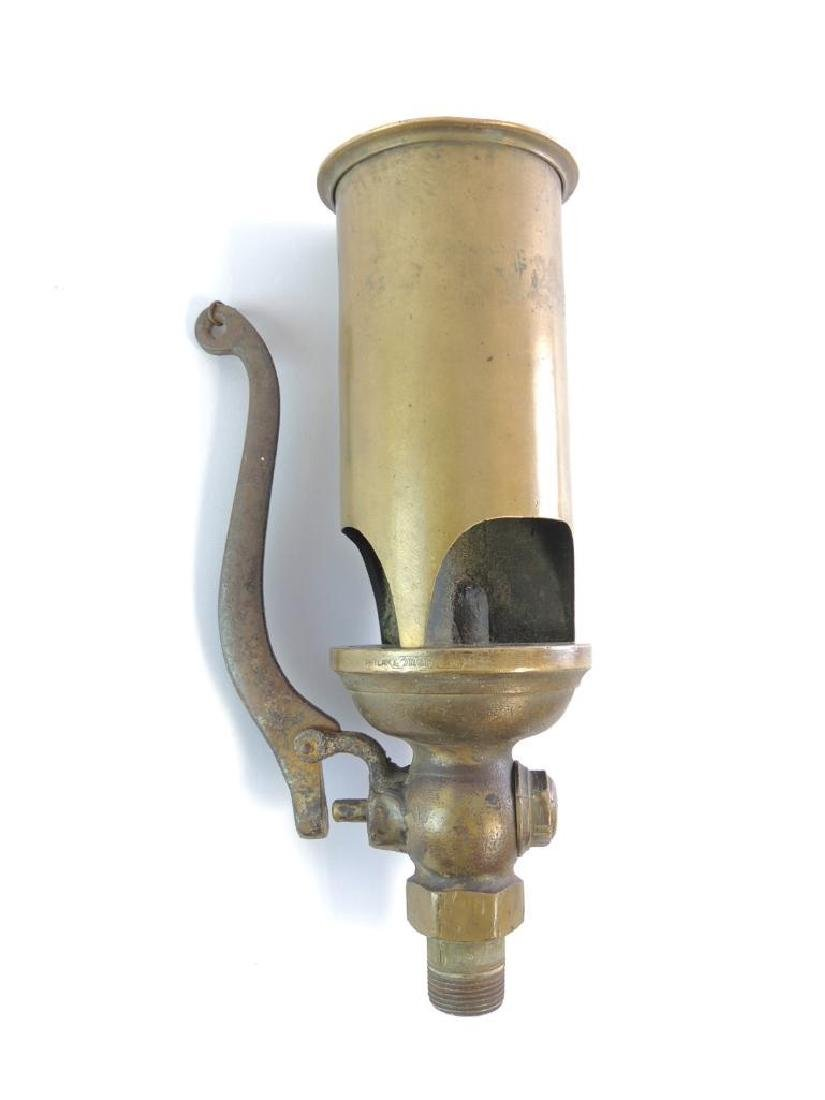 Antique Lonergan 3 Valve Brass Steam Whistle - 2
