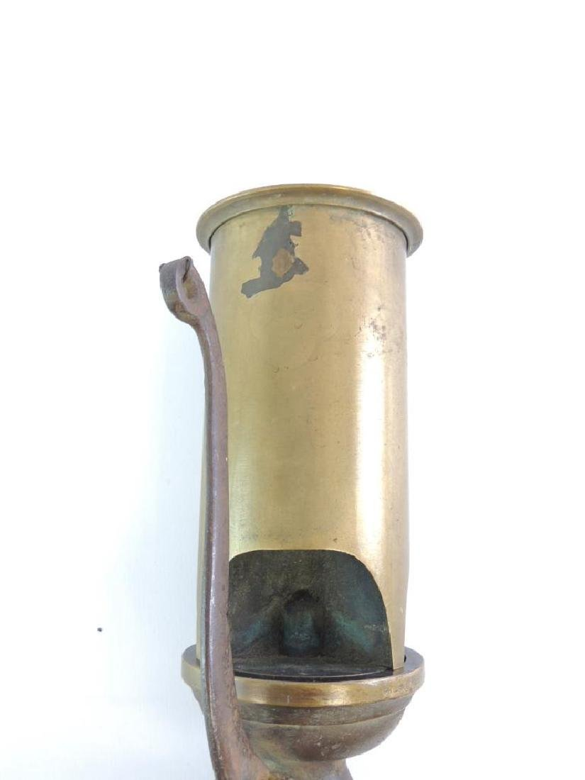 Antique Lonergan 3 Valve Brass Steam Whistle - 3