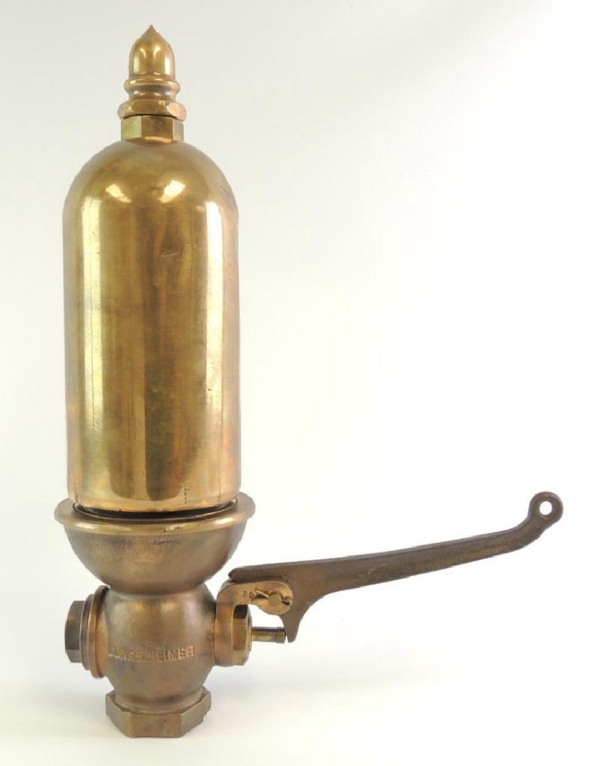 Antique Lunkenheimer Single Valve Brass Steam Whistle
