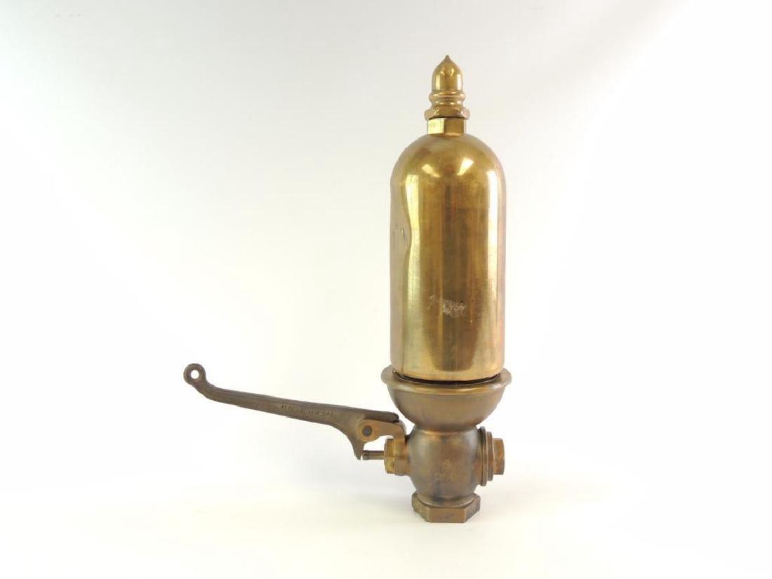 Antique Lunkenheimer Single Valve Brass Steam Whistle - 5