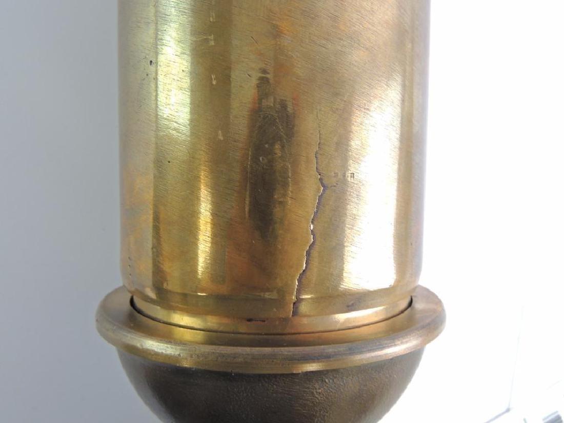 Antique Lunkenheimer Single Valve Brass Steam Whistle - 8