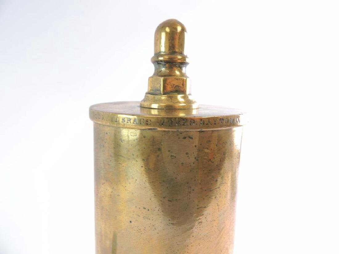 Antique Buckeye Brass Works 3 Valve Brass Steam Whistle - 2