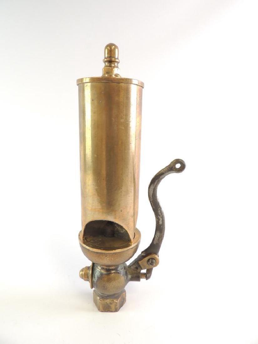 Antique Buckeye Brass Works 3 Valve Brass Steam Whistle - 3