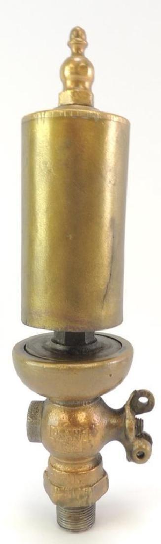 Antique Crane 125 Single Valve Brass Steam Whistle