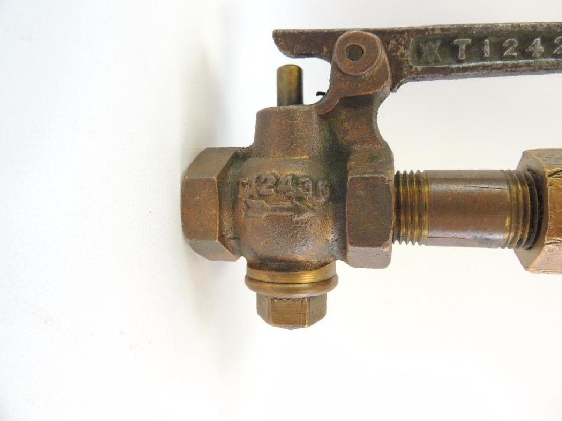 Antique Crosby Steam Gage & Valve Co. 3 Valve Brass - 5
