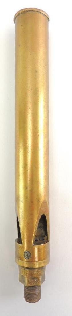 Antique 3 Valve Brass Steam Whistle