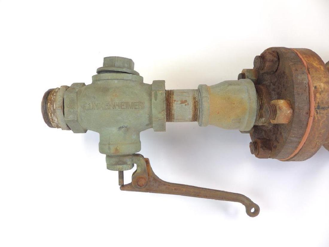 Large Antique Single Valve Lunkenheimer Brass Steam - 2