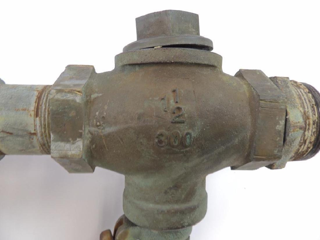 Large Antique Single Valve Lunkenheimer Brass Steam - 3